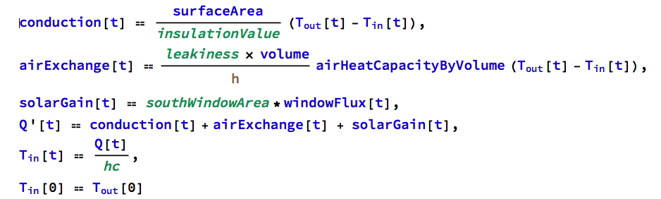 Thermal equations