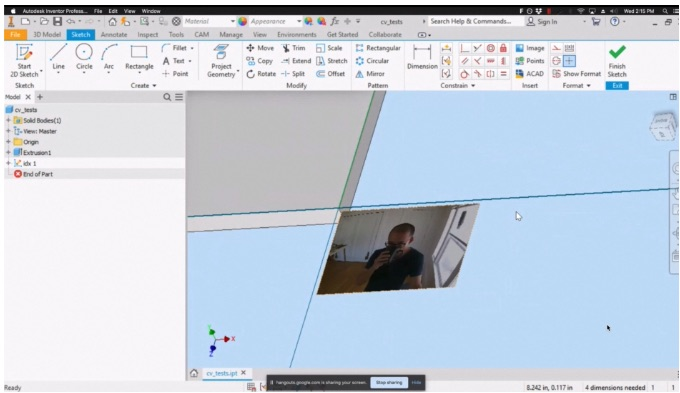 CAD software selfie