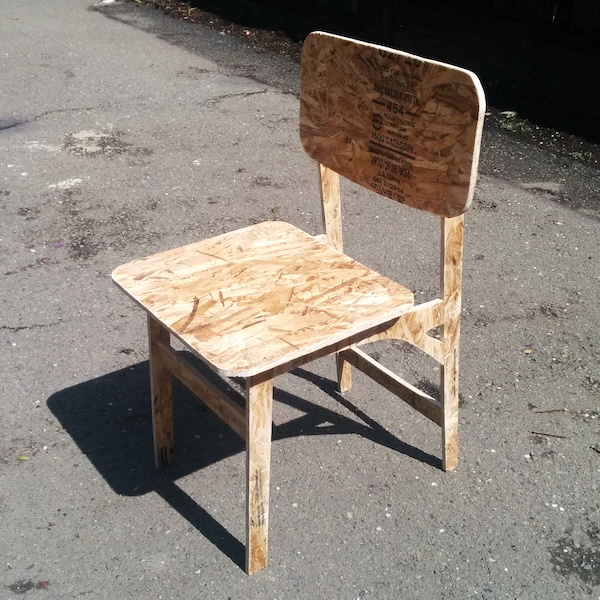 A chair made of OSB
