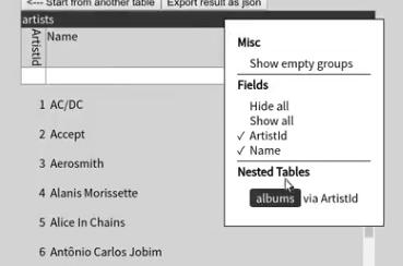 join context menu